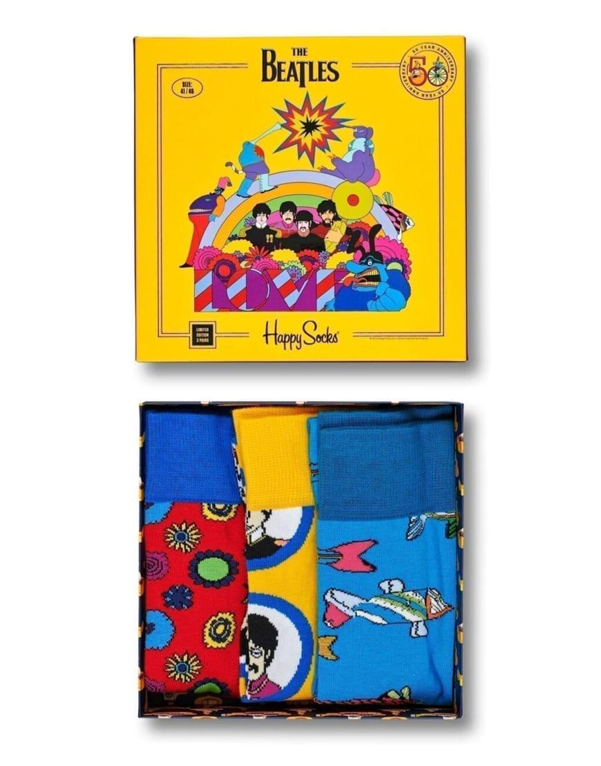 Happy Socks x The Beatles Women/'s Gift Box 3 Pack UK 4-7EU 36-40