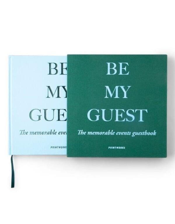 Printworks Market Guest Book Green/Blue