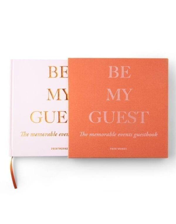 Printworks Market Guest Book Rust/Pink