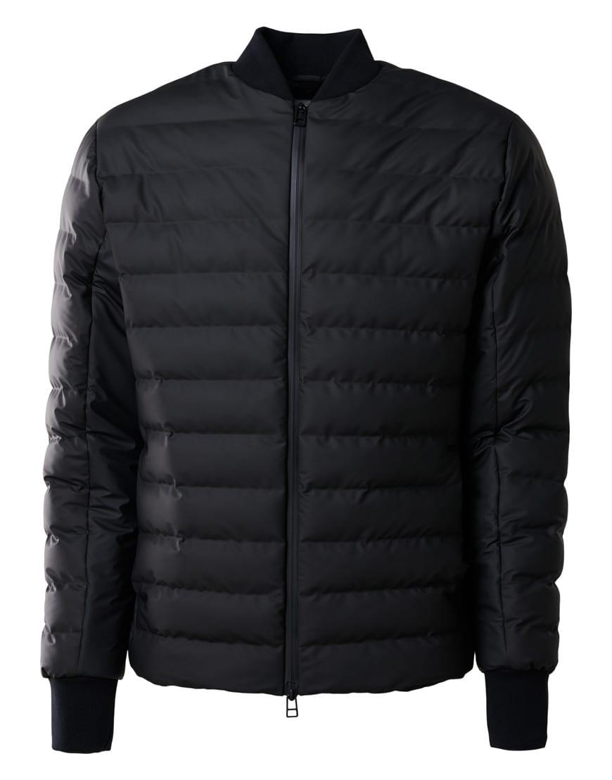 Rains Trekker Jacket Black men's and women's unisex spring and autumn jacket.