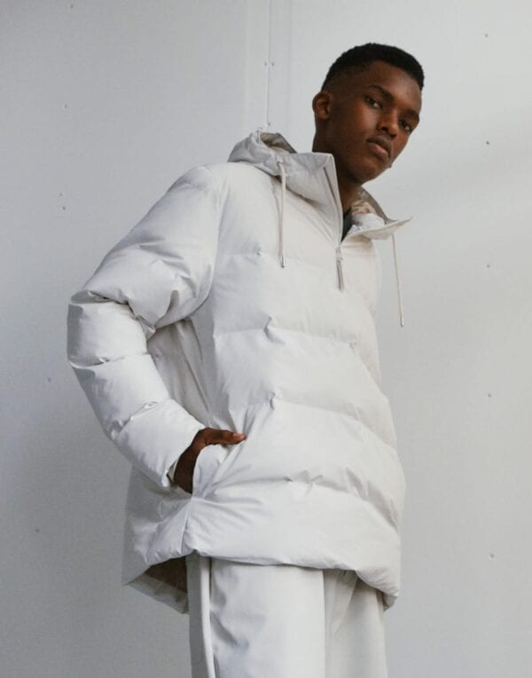 Rains talvejope Puffer Anorak Off White