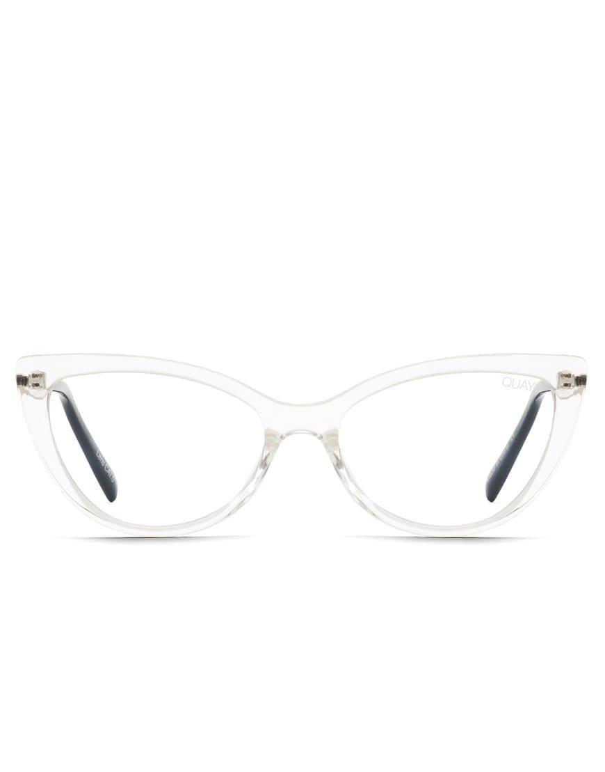 Quay Australia Lustworthy Clear läbikumavate raamidega blue light ehk sinise valguse prillid.