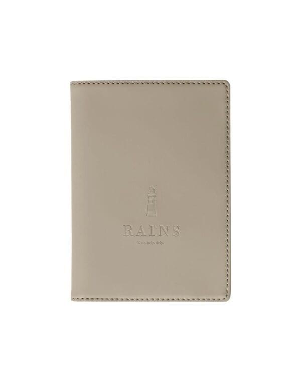 RainsPassport Holder Taupe1646-17