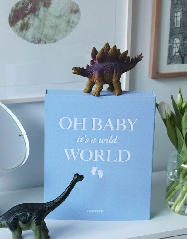 PrintWorks Market Fotoalbum - Baby it's a Wild World (blue)