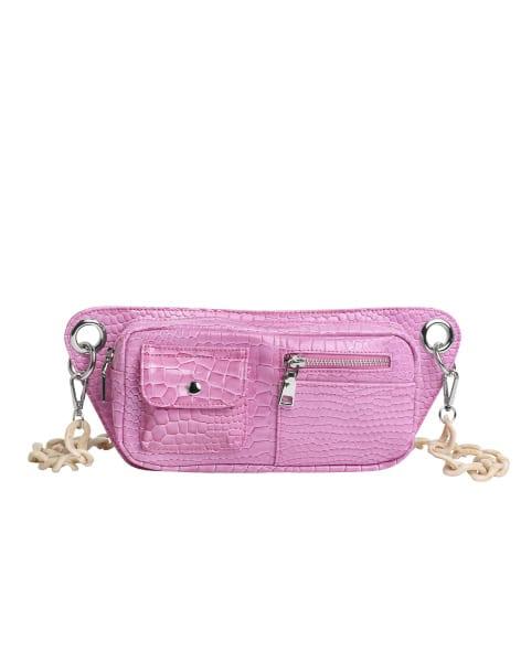 brand1} Brillay Croco Dusty Pink
