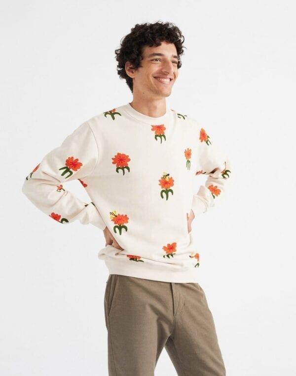 Thinking MU Men Carnations Sweatshirt