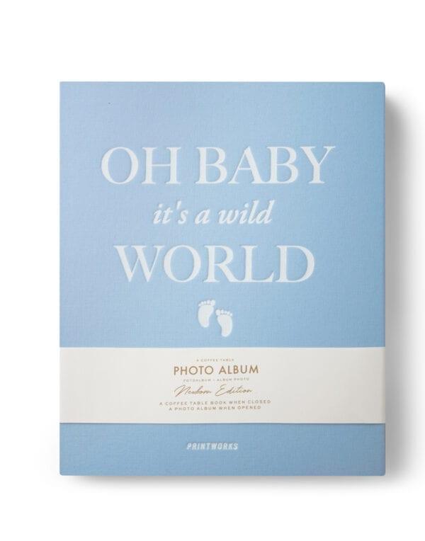 PrintWorks Market Photo Album - Baby it's a Wild World (blue)