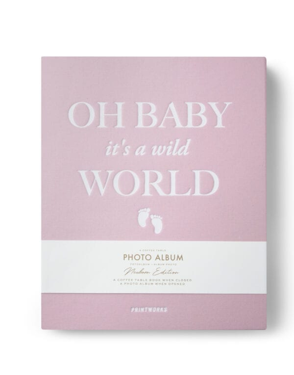 PrintWorks Market Photo Album - Baby it's a Wild World (pink)
