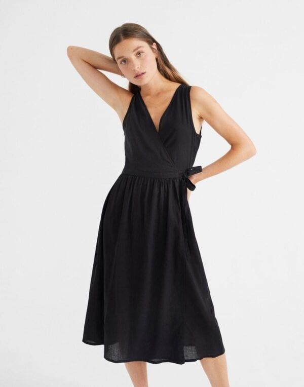 Thinking MU Women Black Amapola Dress