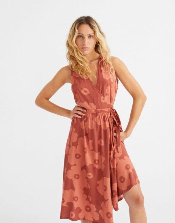 Thinking MU Women Big Flowers Teja Amapola Dress