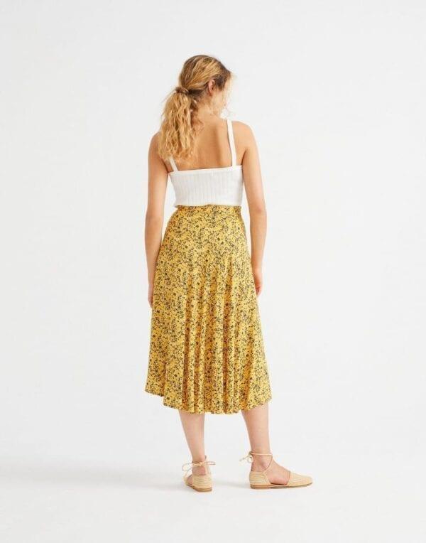 Thinking MU Naised Kleidid ja seelikud Multiflowers Mustard Lavanda Skirt