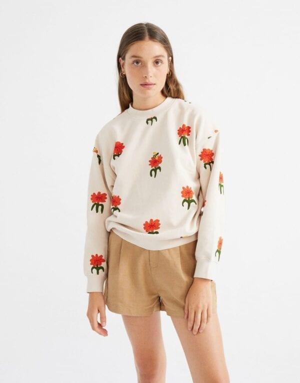Thinking MU Naised Kampsunid ja pusad Carnations Sweatshirt