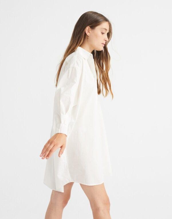 Thinking MU Women's oversized Shirt Dress made from sustainable materials