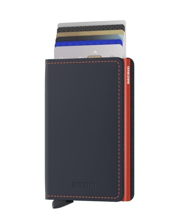 Secrid Wallets & cardholders Slimwallet Matte Nightblue & Orange