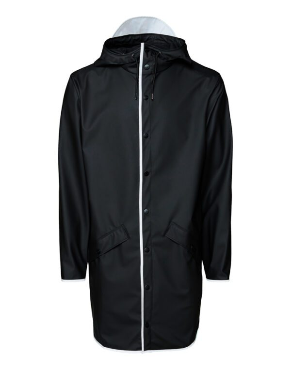 Rains Outerwear for Men and Women Long Jacket Black Reflective 1202-70