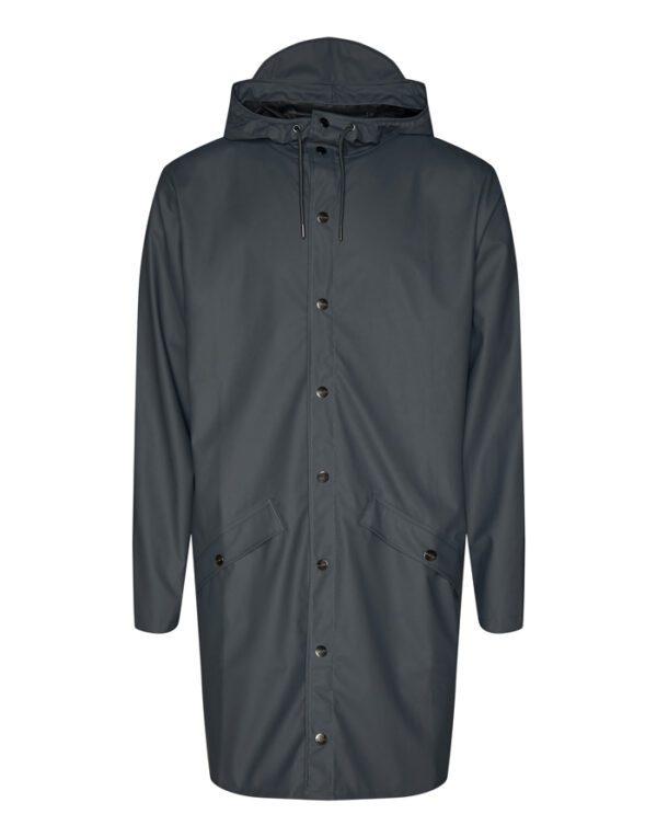 Rains Outerwear for Men and Women Long Jacket Slate 1202-05