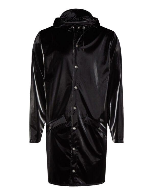 Rains Outerwear for Men and Women Long Jacket Velvet Black 1202-29