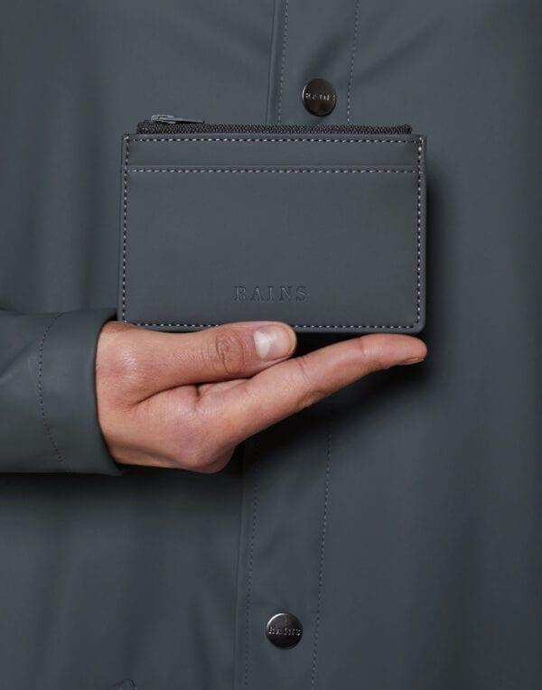 Rains  Zip Wallet Slate