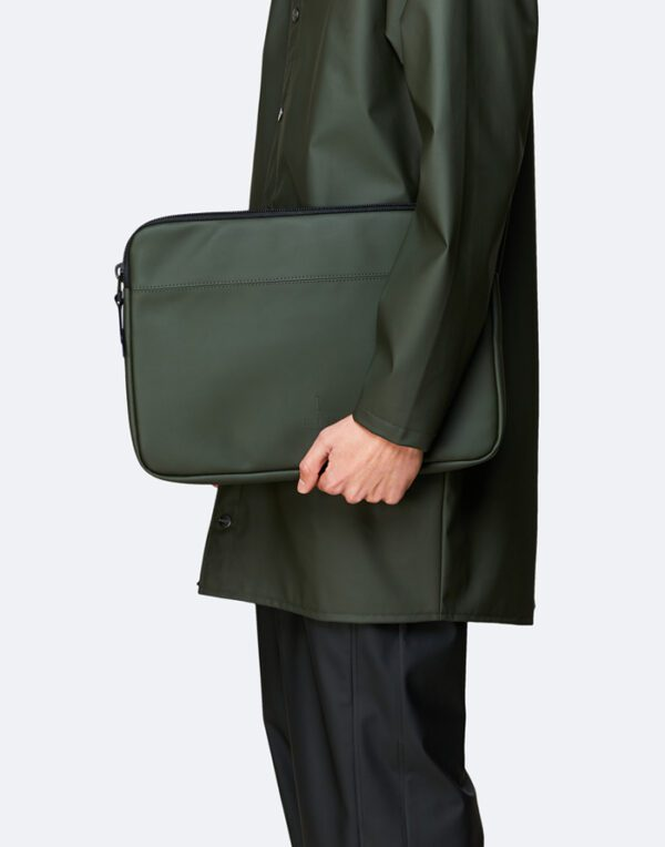 "Rains  Laptop Case 15"" Green"