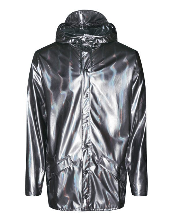 Rains Outerwear for Men and Women Jacket Holographic Steel 1801-52