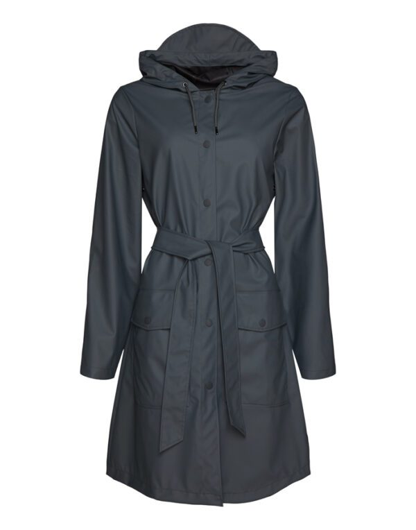Rains Outerwear for  and Women Belt Jacket Slate 1824-05