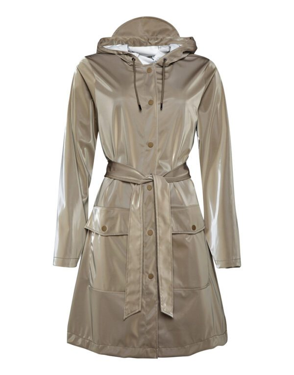 Rains Outerwear for  and Women Belt Jacket Velvet Taupe 1824-33