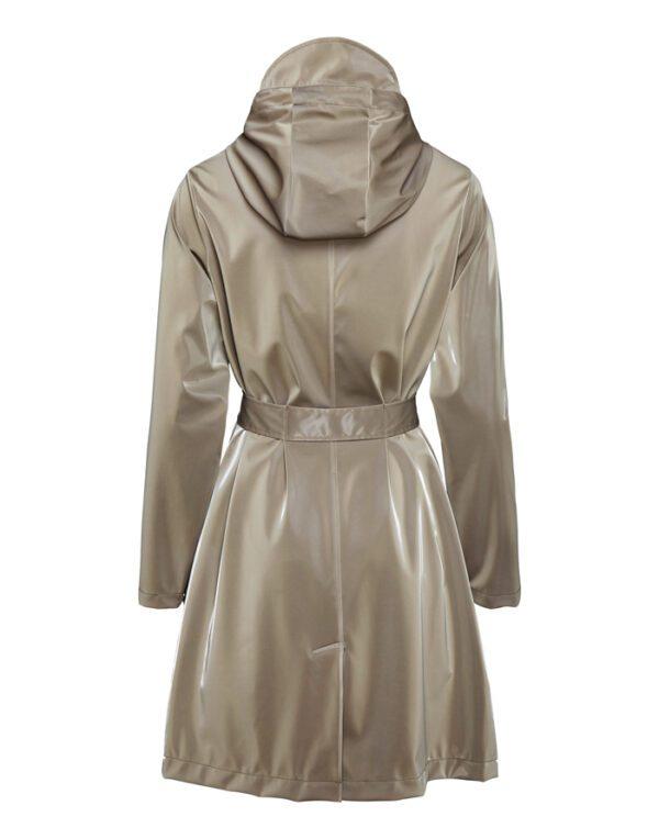 Rains  ja Naised  Belt Jacket Velvet Taupe 1824-33