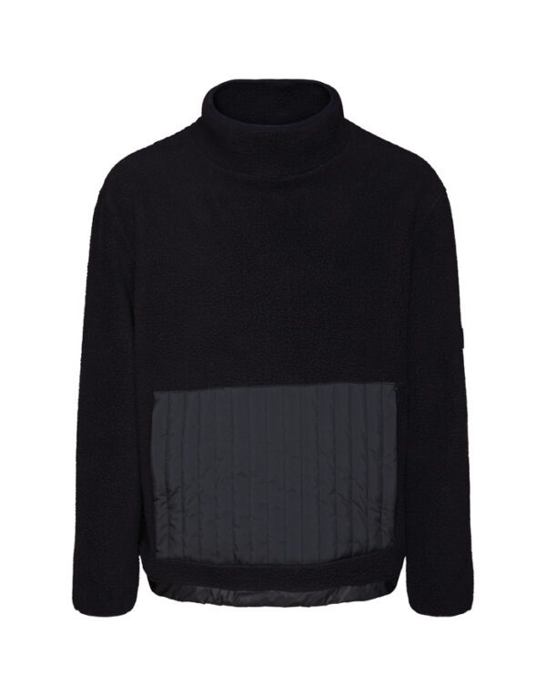 Rains Sweaters & Hoodies for Men and Women Fleece High Neck Black 1850-01