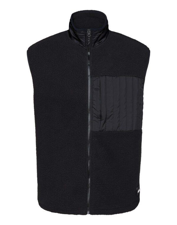 Rains Outerwear for Men and Women Fleece Vest Black 1851-01