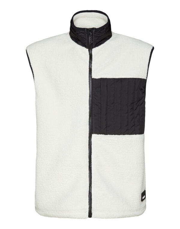 Rains Outerwear for Men and Women Fleece Vest Off White 1851-58