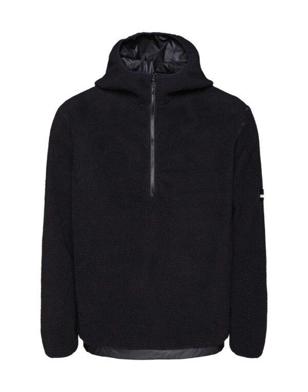 Rains Sweaters & Hoodies for Men and Women Fleece Pullover Hoodie Black 1853-01