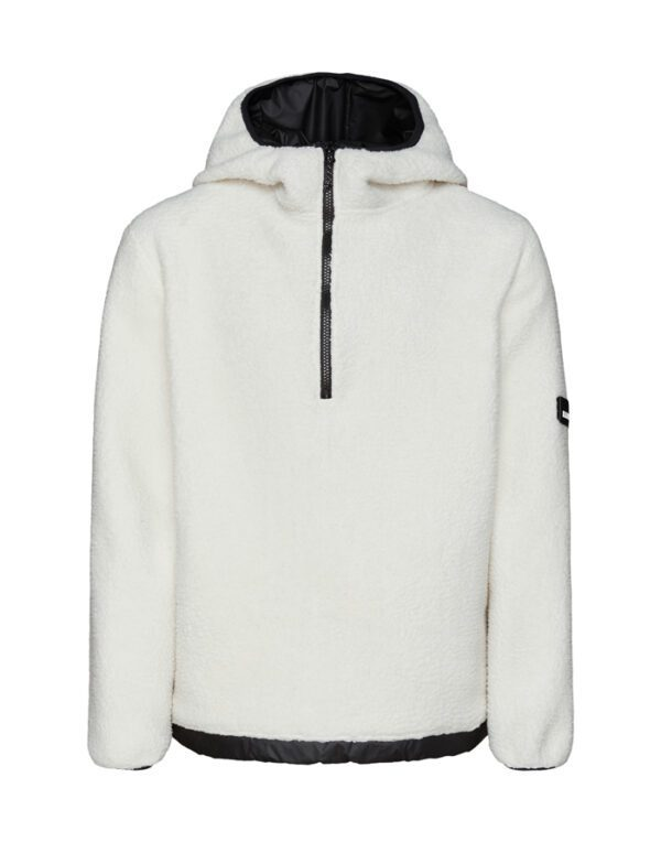 Rains Sweaters & Hoodies for Men and Women Fleece Pullover Hoodie Off White 1853-58