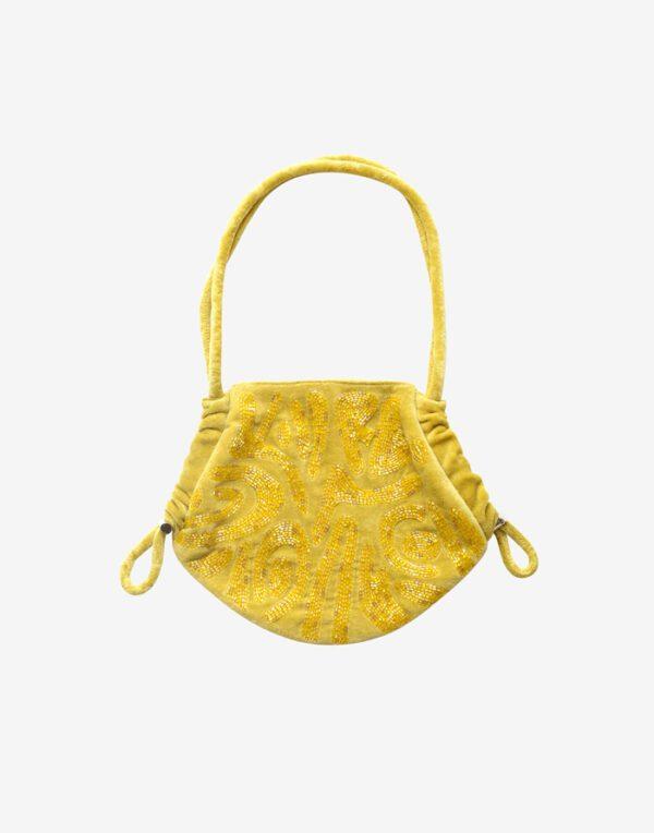 Hvisk Small bags Alore Beaded Papercut Sunny Lime