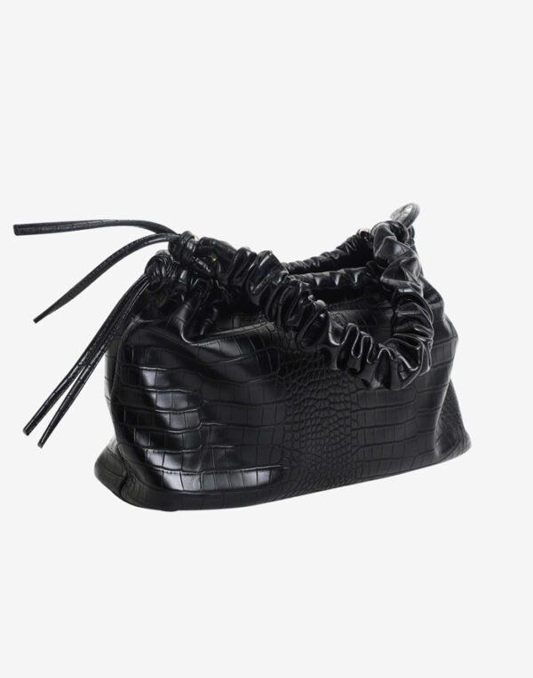 Hvisk Väikesed kotid Arcadia Matte Croco Black