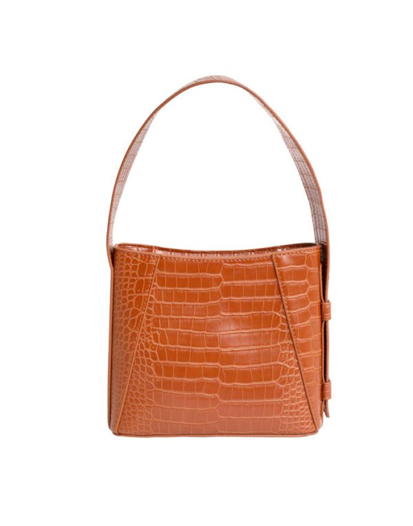 Hvisk Small bags Briny Small Matte Croco Ginger Bread Brown