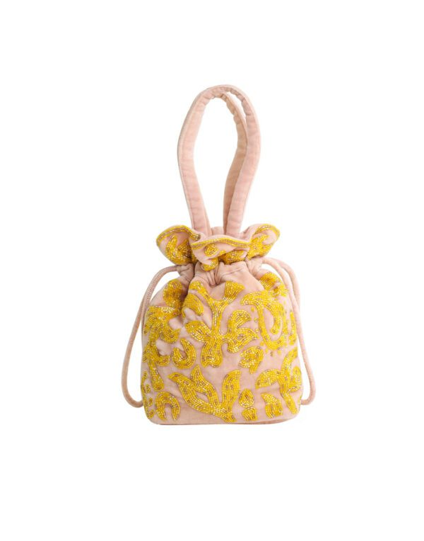 Hvisk Small bags Pouch Beaded Paisle Sepia Rose