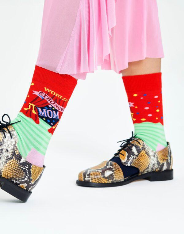Happy Socks   World´s Strongest Mom Sokid WSM01-4300