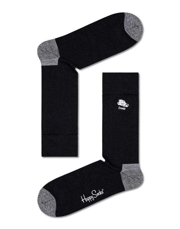 Happy Socks Kinkekomplektid  4-Pakk Black And White Socks Kinkekomplekt XBWH09-9100