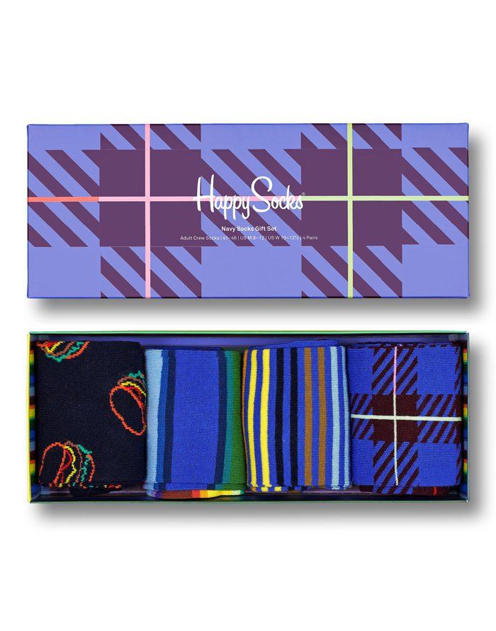 Happy Socks Gift Boxes  4-Pack Navy Socks Gift Set XNAV09-6550
