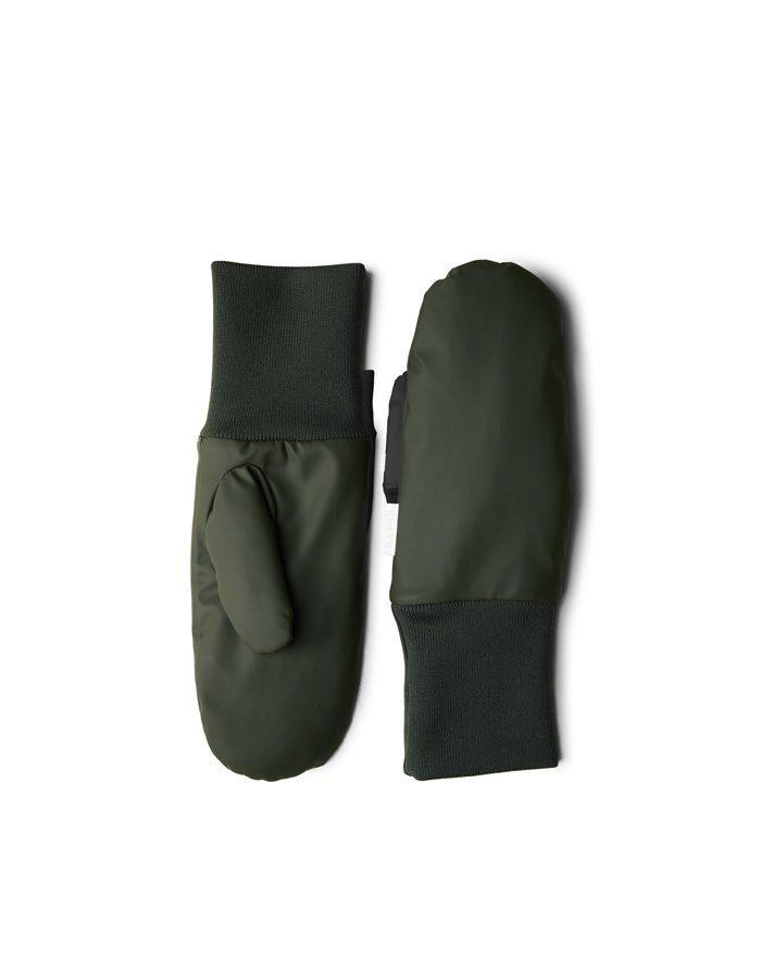 Rains Gloves  Mittens Padded Green 1670-03