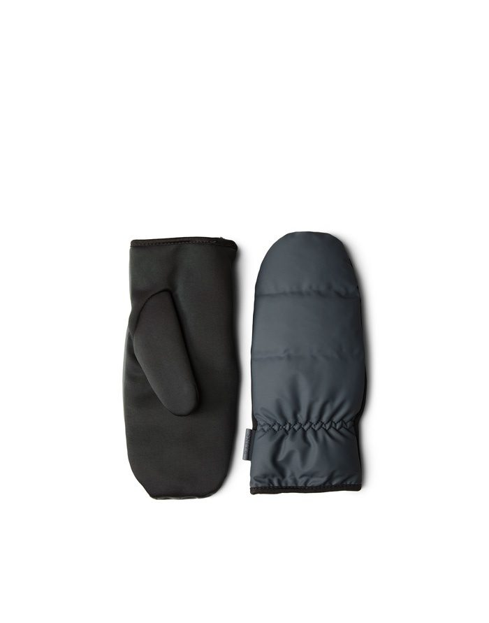 Rains Gloves  Mittens Quilted Slate 1671-05