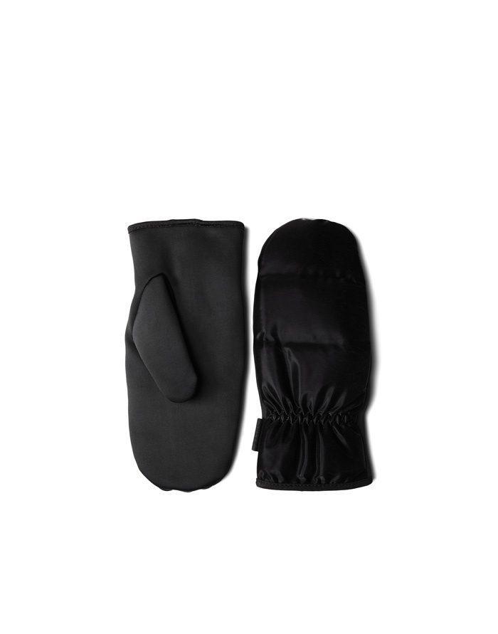 Rains Gloves  Mittens Quilted Velvet Black 1671-29