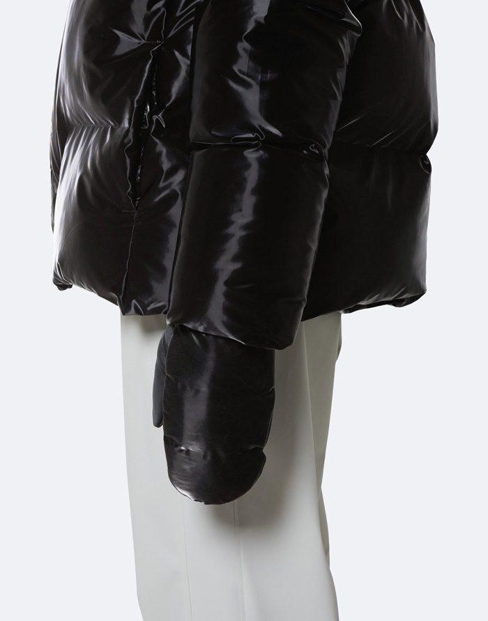 Rains Kindad  Mittens Quilted Velvet Black Kindad 1671-29