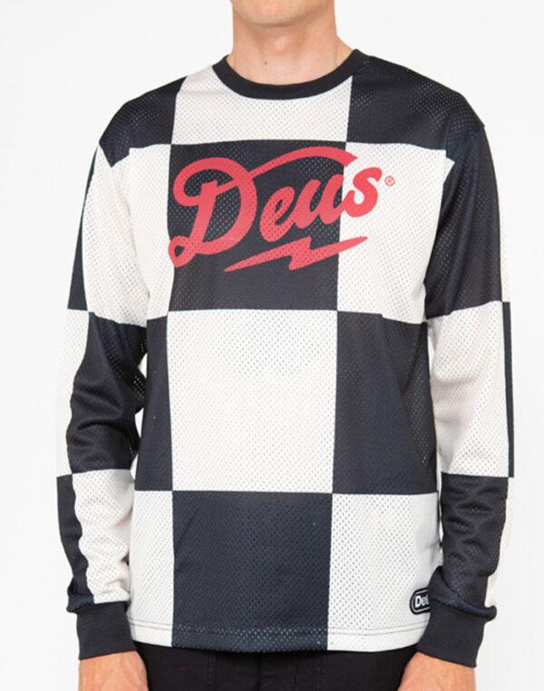 Deus Ex Machina Men Shirts Funk Feud Moto Jersey Black DMP2011141