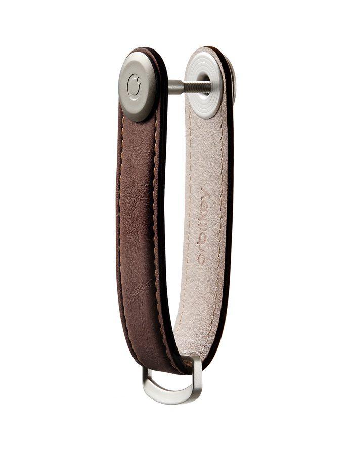 Orbitkey Keychains Orbitkey 2.0 Leather Espresso/Brown LTHO-2-ESBR