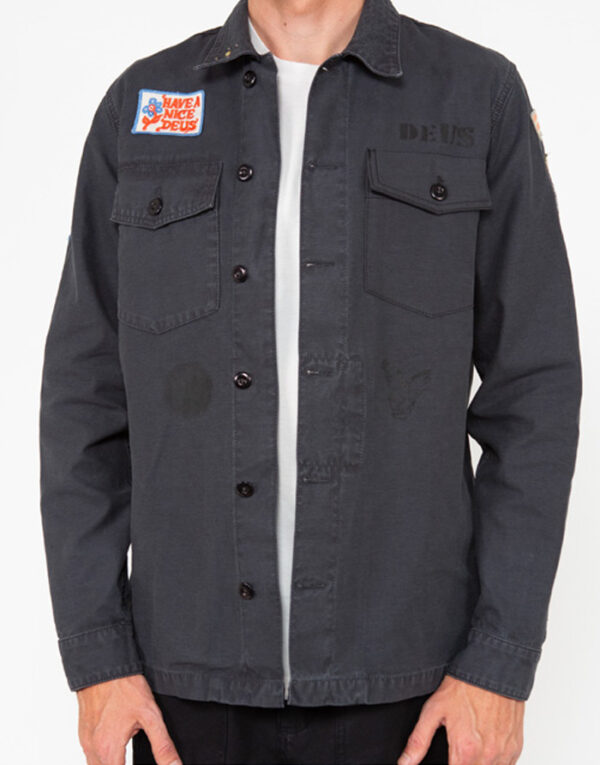Deus Ex Machina Men Shirts Monty Overshirt  Black DMP2051125-Black