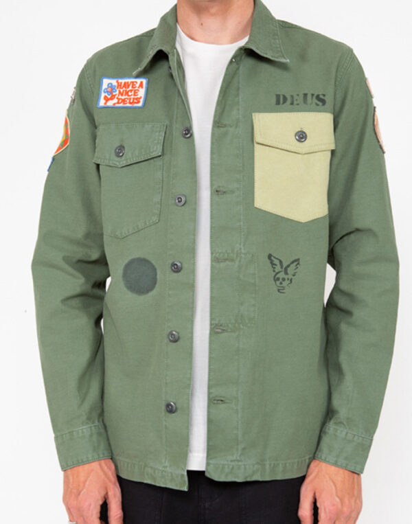 Deus Ex Machina Men Shirts Monty Overshirt Clover DMP2051125-Clover