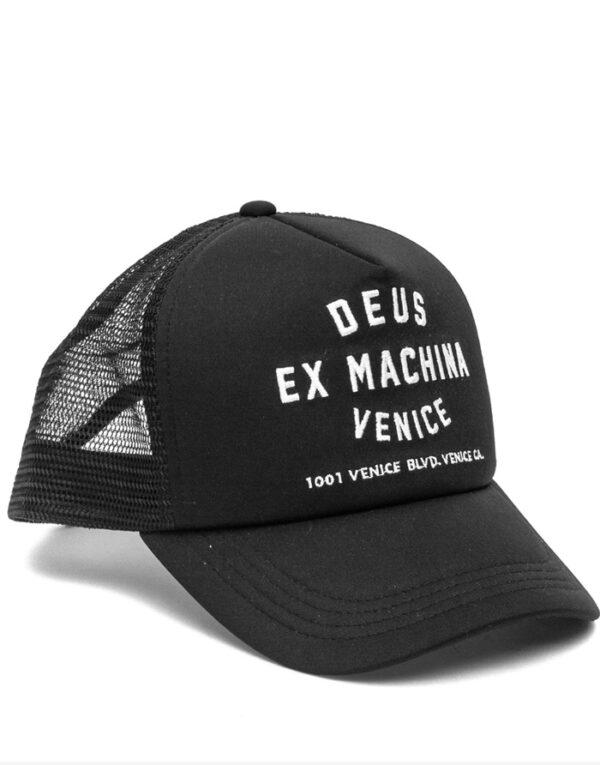 Deus Ex Machina Accessories Hats Venice Address Trucker Black DMA47620
