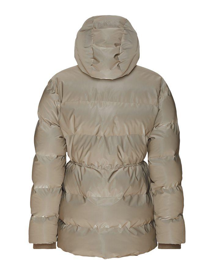 Rains  Talvemantlid ja -joped Puffer W Jacket Velvet Taupe Talvejope 1537-33