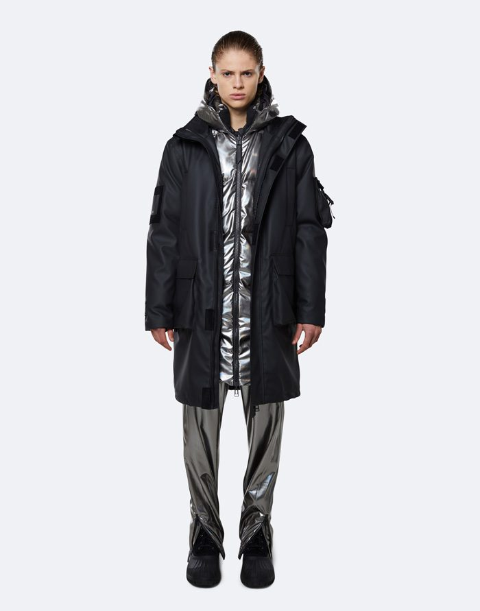 Rains Outerwear Winter coats and jackets Glacial 3-in-1 Parka Black/Holographic Steel 1538-34